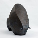 """"""" Big one"""" Sculpture African Stone  cuisson Noborigama H19cm/L25cm Pièce Unique -Juan José Ruiz dit """"Caco"""" Artiste Auteur/Sculpteur"""