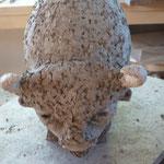 détail Bison grès cru - Caco -