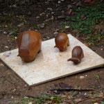 Sculptures grès cuisson four à bois Noborigama - Caco -