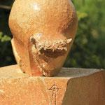""""""" Bison Boule 1 """" Sculpture grès noir  cuisson Noborigama H42cm Pièce Unique -Juan José Ruiz dit """"Caco"""" Artiste Auteur/Sculpteur"""