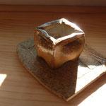 Mini pot plante grasse grès cuisson bois - Bouquet de Flammes by Caco et Sylvie -