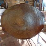 Grand plat grès cuisson bois - Bouquet de Flammes by Caco et Sylvie -