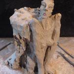 Sculpture grès en travail - Caco -