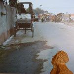 Rickshaw à Varanasi ...