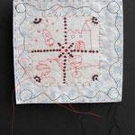 4 Träume / div. Techniken u. Materialien / ca. 13 x 12 cm 2013 (verkauft)