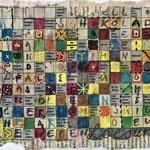 Kreuzworträtsel / Stickerei / 20 x 15 cm 2018