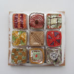 Pralinen / Stickerei auf Verpackung / ca. 12 x 12 cm 2014