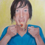 Eat II / Öl auf Leinwand / 100 x 100 cm 2014