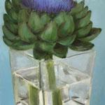 Artischokenblüte / Öl auf Leinwand / 60 x 100 cm 2018 (verkauft)
