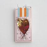 Schoggidrachen / div. Techniken u. Materialien / ca. 8 x 16 cm 2009 (verkauft)
