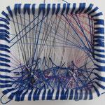 Stürmisches Meer / Stickerei / 8 x 8 cm 2016 (verkauft)