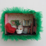 Home sweet home / div. Techniken u. Materialien / 9 x 7 cm 2008 (verkauft)