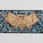 Feuervogel II / div. Materialien u. Techniken / 11 x 25 cm 2012