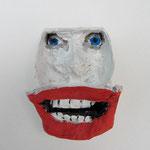 Serie Front Row / Kleister, Acrylfarbe / ca. 5.5 x 6 cm 2014 (verkauft)