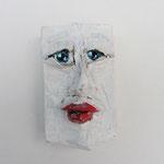 Serie Front Row / Kleister, Acrylfarbe / ca. 4 x 6 cm 2014 (verkauft)