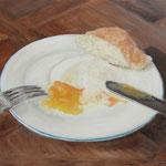 Pochiertes Ei / Öl auf Leinwand / 50 x 70 cm 2014 (verkauft)