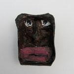 Serie Front Row / Kleister, Acrylfarbe / ca. 4 x 6 cm 2014