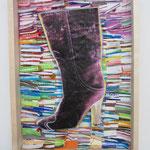 Stiefelbild / div. Techniken u. Materialien / 25 x 31 cm 2013