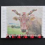 Miss Horn / div. Techniken u. Materialien / ca. 15 x 11 cm 2013 (verkauft)