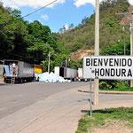 Wir betreten Honduras.