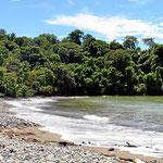 Und das ist der Strand, Playa Pinuela.
