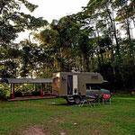 Unser Stellplatz an der Panacam Lodge.