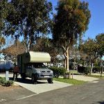 Unser KOA-Plazt in San Diege (bzw. Chula Vista), eigentlich recht hübsch aber leider neben einer Autobahn gelegen.