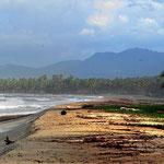 Im Hintergrund sieht man die Sierra Nevade de Santa Marta, das höchste Küstengebirge der Welt. Allerdings ist es nur wenig zugänglich.