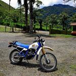 Das ist das kleine Motorrad, mit dem ich die Spritztour durchführte.
