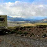 Rückfahrt mit herrlichen Blicken über die Hochfläche um den Cotopaxi herum.