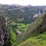 Eine der tiefsten Schluchten in Ecuador.