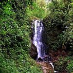 Ein Wasserfall. Auch ansonsten gluckert es überall.