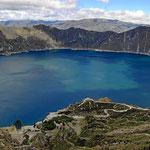 Der Kratersee von Quilotoa, der schönste Kratersee von Ecuador.