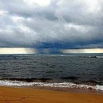 Platzregen über der Karibik.