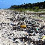 Leider wird der Strand nicht gepflegt. An vielen Stellen ist er voller Müll.