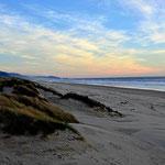 Der Strand an der Halbinsel.
