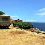 Unser Stellplatz mit dem tollen Meereswblick, hoch über dem Pazifik.