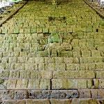 Die berühmtgr Hieroglyphentreppe. Die längste Hieroglyphenschrift in Amerika.