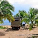 """Einer meiner schönsten """"Wasser-Stellplätze"""". Der Strand von Punta Uva."""