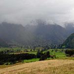 Die Fahrt nach Cayambe war von Regen begleitet.