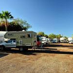 Der Campingplatz in Loreto - eng, eng, eng. Und hier überwintern die Amerikaner.