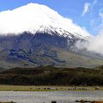 Und endlich können wir den Cotopaxi in seiner ganzen Schönheit bewundern.