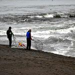 Dies ist Indianerland. Nur nativ people dürfen mit Netzen Lachse fangen.