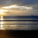 Abendstimmung am Strand von Brasilito.