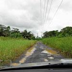 Die Straße nach Canon Negro.