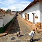 Spaziergang durch Barichara.