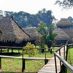 Die Guyabeno River Lodge, unsere Heimstätte für die nächsten 5 Tage.