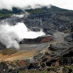 Der Vulkan Poas ist immer noch altiv.