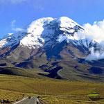 Der Chimborazo fast wolkenfrei.