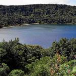 Der Kratersee Botos, der Vulkan hier ist nicht mehr aktiv.